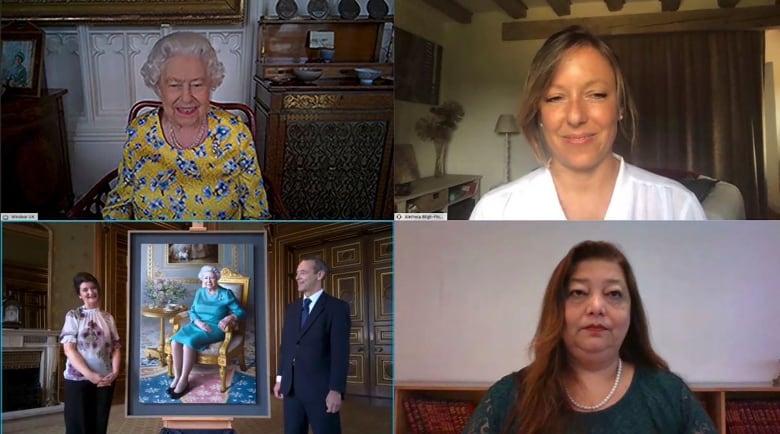 Queen Elizabeth II joins virtual unveiling of portrait
