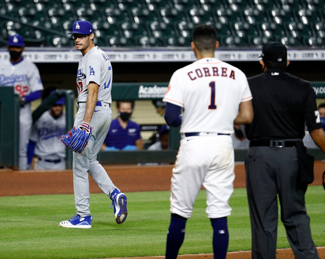 Dodgers Joe Kelly Suspended 8 Games For Throwing At Mocking Astros Cbc Sports On today's barstool rundown, kfc, kayce smith, and feitlelberg discuss joe kelly becoming a national hero, the nhl bubble being underway, a new way to eat. dodgers joe kelly suspended 8 games