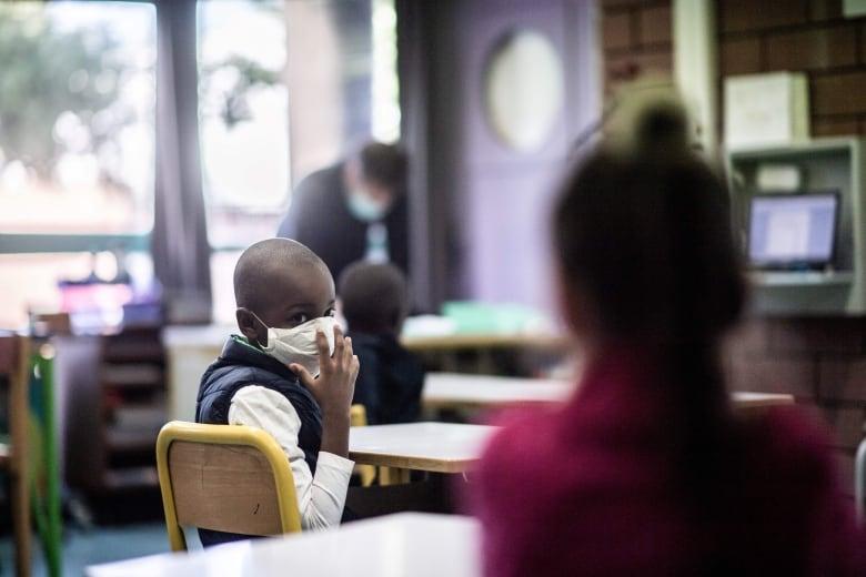 mask classroom stock shot may 14 2020 france