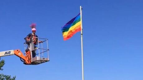 Pride flag Watson Lake