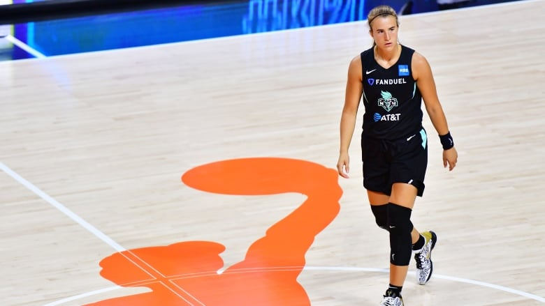 New York Liberty rookie Sabrina Ionescu suffered Grade 3 ankle sprain