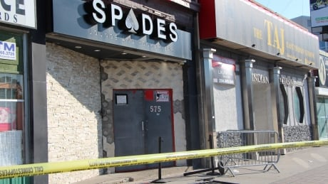 Spades Lounge and Hookah Bar police tape Aug. 1, 2020