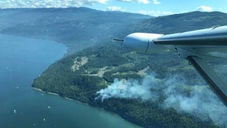 Marble Lake wildfire Shuswap Lake