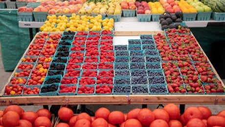 farmers market vegetables berries fruit produce farm