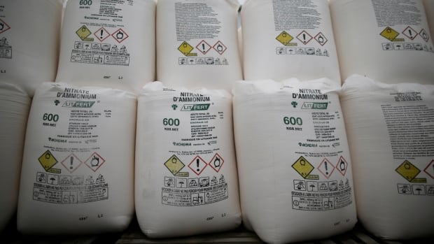 Storage of ammonium nitrate in Canada so tightly regulated that a Beirut-like blast unlikely here | CBC News