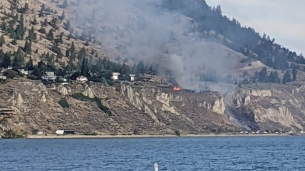 'Immediate danger' as homes evacuated due to wildfire northwest of Penticton   CBC News