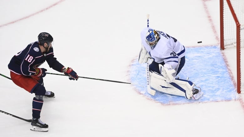 Leafs Stunned By Blue Jackets In Ot As Dubois Hat Trick Caps 3 Goal Comeback Cbc Sports