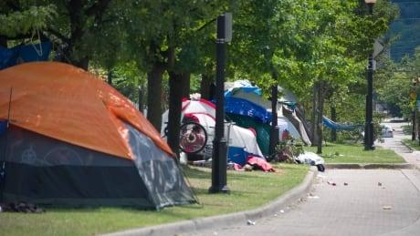 homeless encampment hamilton, ferguson avenue