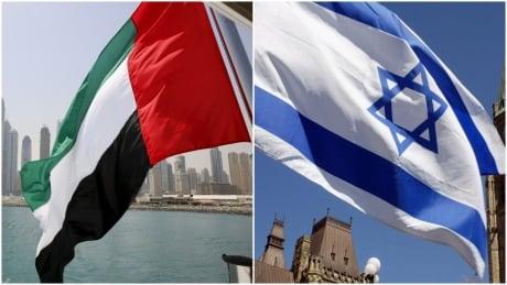 United Arab Emirates Israel flag composite