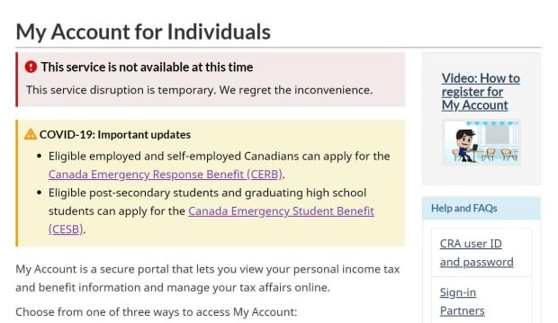 Cra Shuts Down Online Services After Thousands Of Accounts Breached In Cyberattacks Cbc News