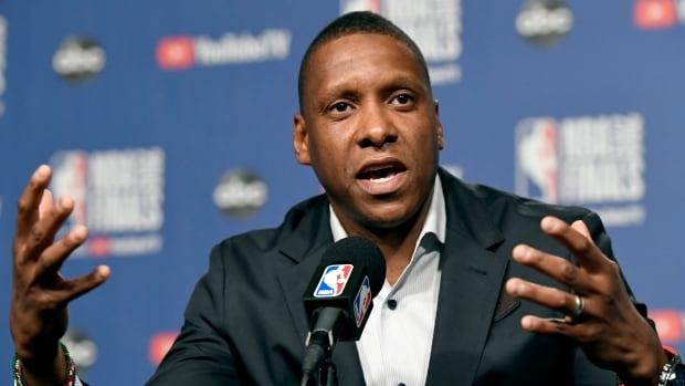 Raptors' Masai Ujiri reacts to video of altercation at NBA Finals | CBC Sports