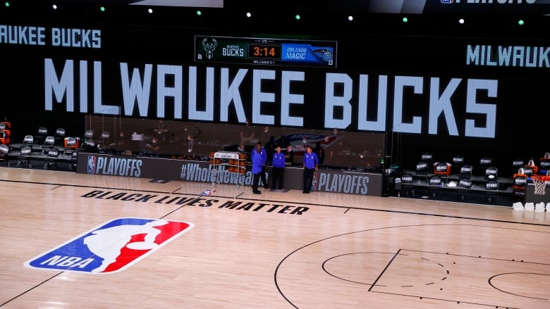 National Basketball Association  forced to postpone playoffs after Milwaukee Bucks lead shooting boycott