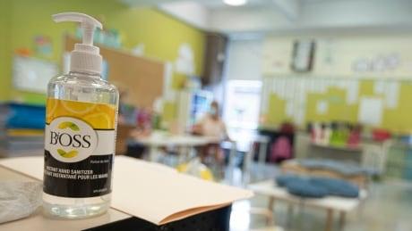 Hand sanitizer Montreal classroom