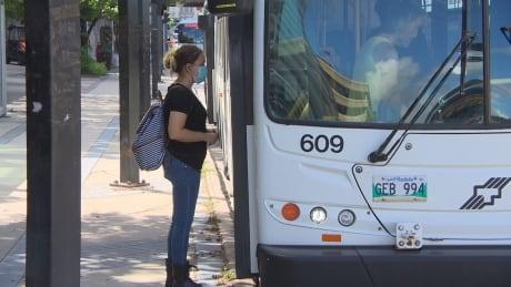 Masks on Winnipeg Transit buses