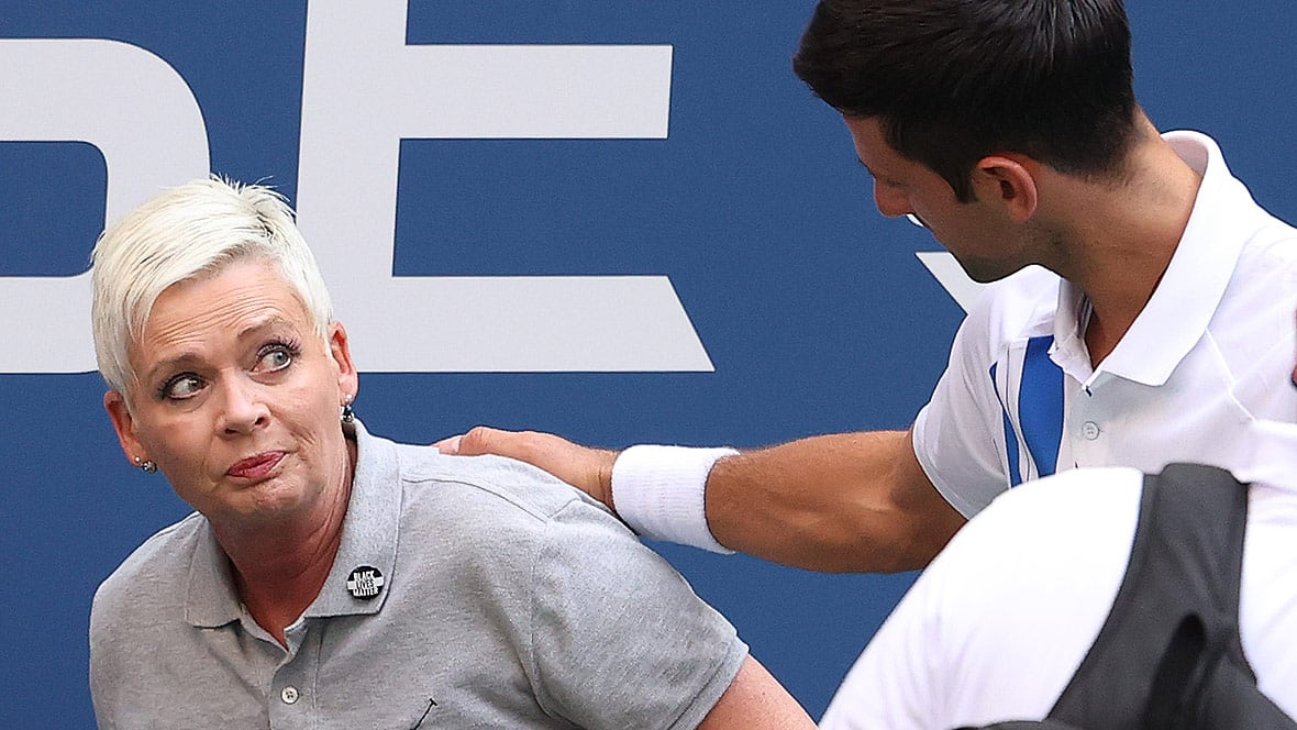 Top Seeded Djokovic Disqualified From U S Open After Striking Line Judge With Ball Cbc Sports