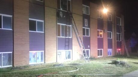 Saskatoon apartment complex fire 20th Street West September 2020