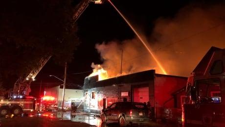 Fire at Triple Crown Metals building in Saskatoon