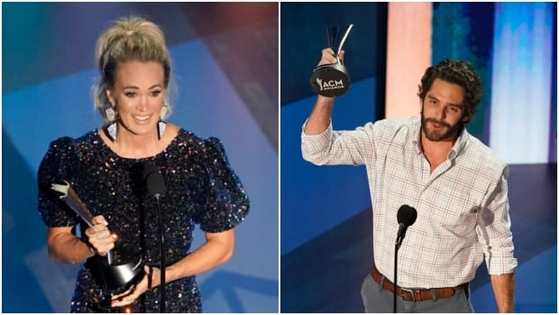 Carrie Underwood, Thomas Rhett tie for top prize Academy of Country Music Awards
