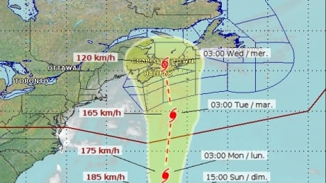 Hurricane Teddy track, 6 a.m. Sept. 18, 2020