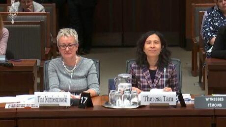 Tina Namiesniowski and Dr. Theresa Tam