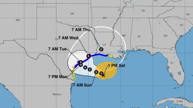 Tropical storm Beta spurs hurricane fears in Texas