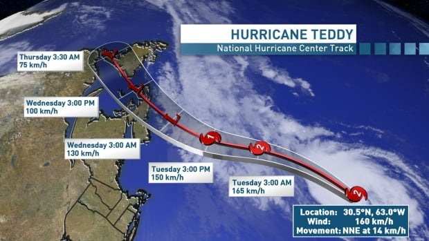 Teddy to bring 'nasty couple of days' to Maritime region