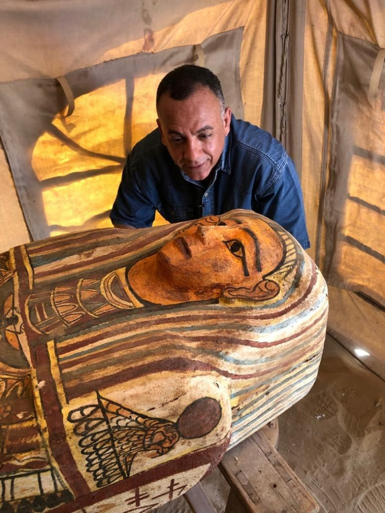 2,500-year-old sarcophagi unearthed at Egypt's oldest pyramids