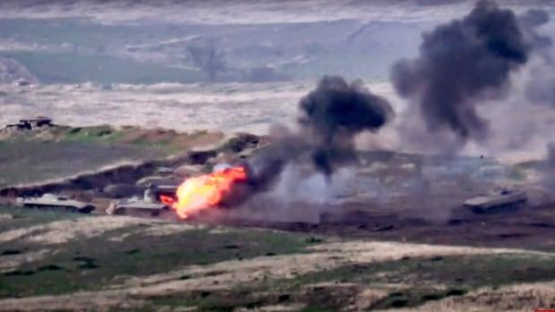 Fighting erupts between Armenia, Azerbaijan in disputed area | CBC News