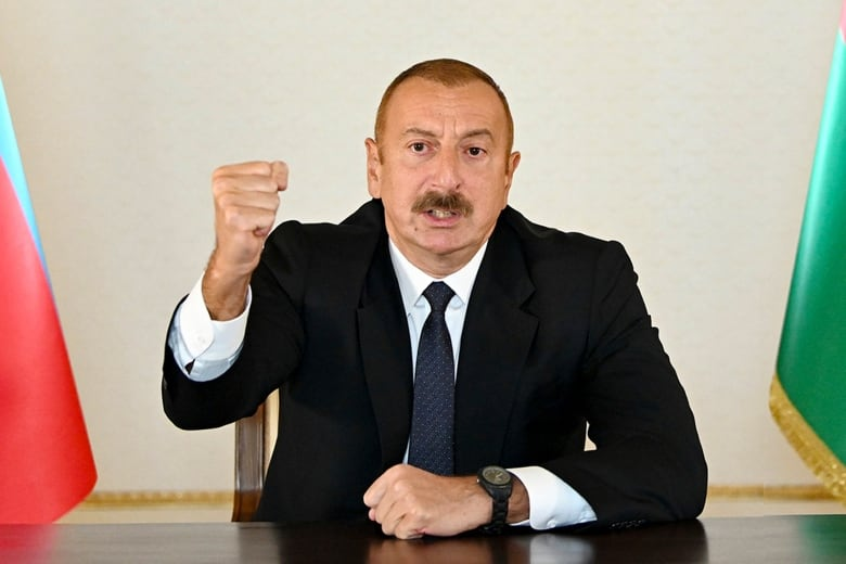 Fighting erupted anew Sunday between Armenian and Azerbaijani forces over the disputed separatist area of Nagorno-Karabakh, killing 16 folks and wounding greater than 100,a high territorial official stated, whereas Azerbaijan's president stated his navy has suffered losses.