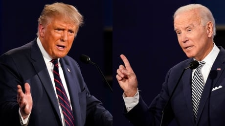 trump biden debate composite