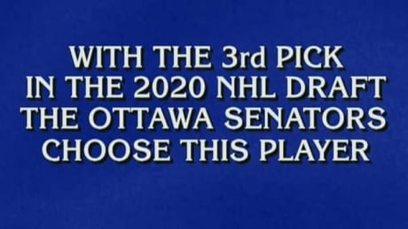 Alex Trebek announces Senators' 3rd overall pick of 2020 NHL draft