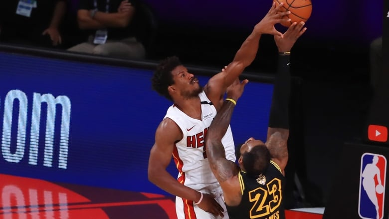 Jimmy Butler Puts Heat On His Back To Stave Off Elimination Against Lakers Cbc Sports