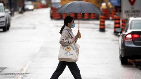 Pedestrians Wearing Masks COVID-19 Toronto
