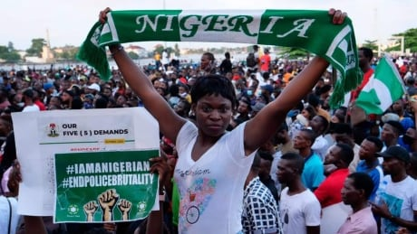 Nigerians protesting anti-police brutality bring Lagos to standstill