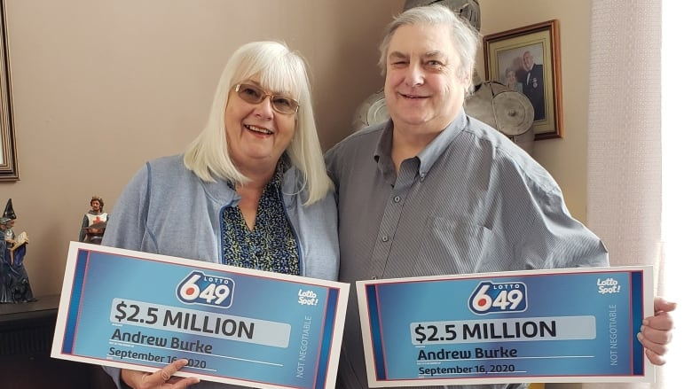 'What's up, bud?' : Edmonton-area man wins $2.5M lottery trophy... double thumbnail