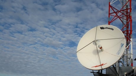 Northwestel satellite dish in Kugaaruk, Nunavut
