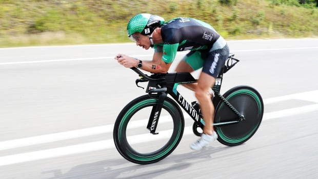 Ironman triathlete Lionel Sanders sets Canadian record for distance cycled in an hour