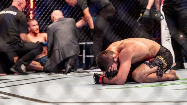 Khabib Nurmagomedov announces retirement after submitting Justin Gaethje at UFC 254