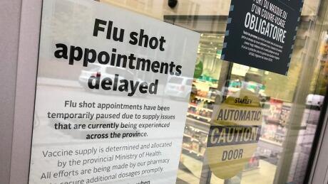 Flu shots delayed Rexall Pharamcy Ottawa Oct. 29, 2020