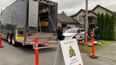 The RCMP Clandestine Lab unit and investigators descended on one of 5 suspected drug labs Wednesday.