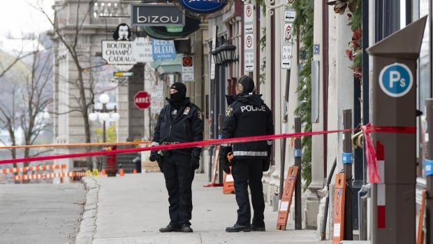 Man charged with 2 counts of 1st-degree murder after Halloween sword attack in Quebec City | CBC News