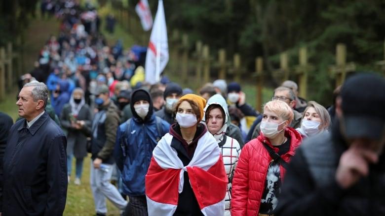 Belarus detains hundreds at opposition rally, denies abuses
