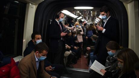 Subway COVID masks