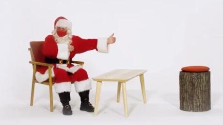 Santa mask social distancing Toronto Eaton Centre