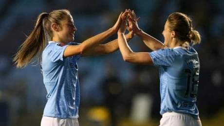 Canadian Janine Beckie scores in Man City rout