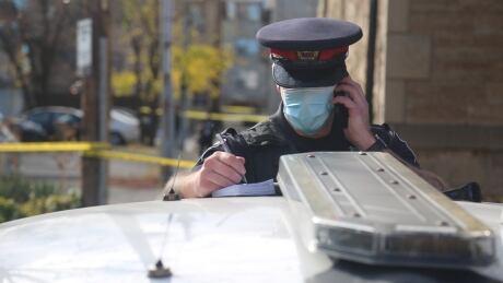 Hamilton police mask, COVID-19