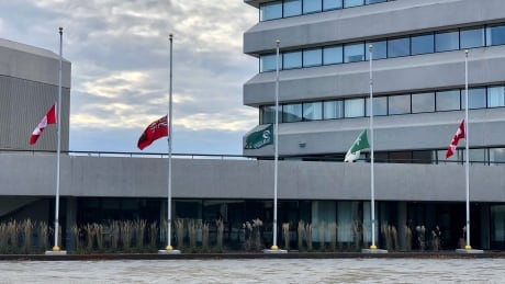 Greater Sudbury flags at half-mast