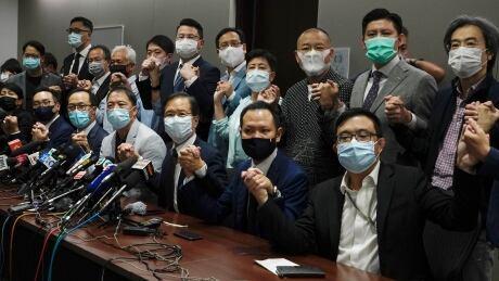 APTOPIX Hong Kong Lawmakers Disqualified