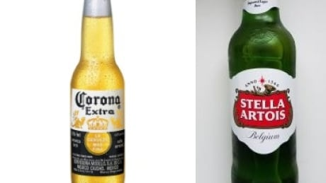 Stella Artois and Corona