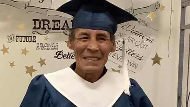 Residential school survivor graduates high school at 61, says it's never too late for education